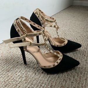 Worn once! Heels approx. 4in